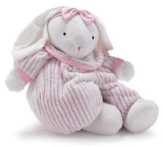 "Large and Cuddly 31"" Plush Bunny Rabbit With Soft Pink And White Outfit: Toys & Games"
