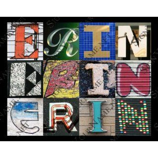 Erin Personalized Name Poster Using Sign Letters : Prints : Everything Else