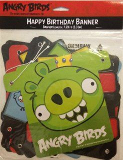 Angry Birds Happy Birthday Letter Banner 7.59' Feet Long: Health & Personal Care