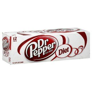 Dr. Pepper Diet Soda, 12 oz Can (Pack of 24) : Soda Soft Drinks : Grocery & Gourmet Food