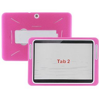 "JNJ ROCKET   Samsung Galaxy Tab 2 LTE 10.1"" Case [Pink White] Heavy Duty Hybrid Case with Kickstand Computers & Accessories"