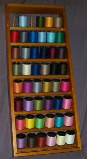 Wood Sewing Thread holder   holds 48 large spools  Other Products