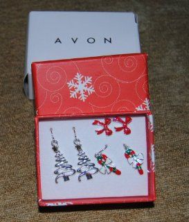 Avon Set of Three Holiday Earrings in Gift Box  Other Products