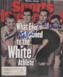 David Fulcomer, Ken MacKenzie, Calr Belz & Don Davidson autographed Sports Illustrated Magazine (Princeton) at 's Sports Collectibles Store