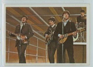 1964 Topps Beatles Color 44 1964 Beatles Color 44 The Beatles On Stage Near Mint: Entertainment Collectibles
