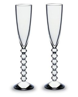 Two Vega Flutissimos, Clear   Baccarat