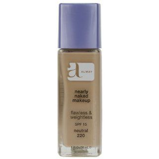 Almay Nearly Naked Makeup with SPF 15, Neutral 220, 1 Ounce Bottle : Foundation Makeup : Beauty