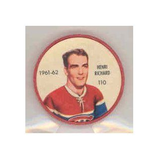1961 62 Shiriff Coins 110 Henri Richard Canadiens Near Mint at 's Sports Collectibles Store
