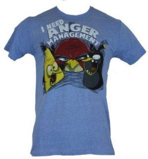 "Angry Birds (Hit Mobile App) Mens T Shirt   ""I Need Anger Management"" Bird: Clothing"