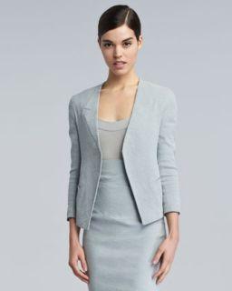Womens Trompe LOeil Collar Jacket   Donna Karan   Waterlily (10)
