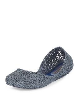 Campana Papel V Jelly Flat, Navy   Melissa Shoes   Navy (6.0B)