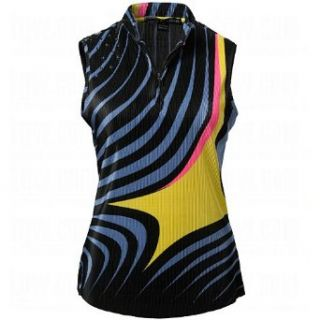 Jamie Sadock Ladies Abstract Printed Crunch Sleeveless Tops Small: Clothing