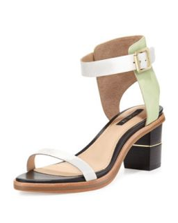 Colbie Colorblock City Sandal, Mint   Rachel Zoe   Mint (37.0B/7.0B)