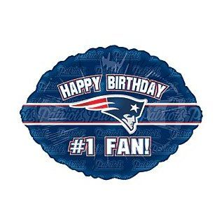 """Happy Birthday #1 Fan"" New England Patriots NFL Football Logo 18"" Balloon Mylar: Health & Personal Care"