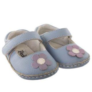 Pedoodles Baby Soft Sole Shoes, Next Step, Doodles, Daisy, Periwinkle, Size 22 28 months (Size 7 8): Shoes
