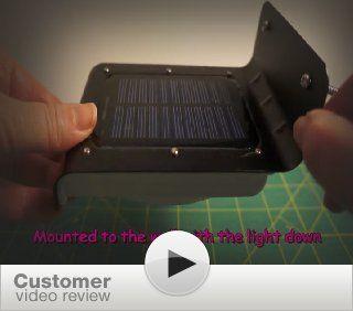 Instapark YT1008 Solar powered Dusk to Dawn Outdoor Motion Sensor LED Light, Weather proof, Color Black   Patio Deck Lights