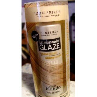 John Frieda Sheer Blonde Luminous Color Glaze   Platinum to Champagne 6.5 oz : Hair Highlighting Products : Beauty