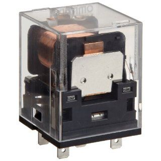 Omron MKS2XT 11 AC120 General Purpose Power Relay, Standard Type, DC Loads, Single Pole Single Throw Normally Open and Single Pole Single Throw Normally Closed Contacts, 22.2 mA at 50 Hz and 19.3 mA at 60 Hz Rated Load Current, 120 VAC Rated Load Voltage:
