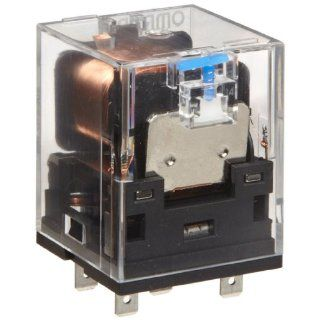 Omron MKS1XTI 10 AC120 General Purpose Power Relay, Test Button Type, Single Pole Single Throw Normally Open Contacts, 22.2 mA at 50 Hz and 19.3 mA at 60 Hz Rated Load Current, 120 VAC Rated Load Voltage: Electronic Relays: Industrial & Scientific