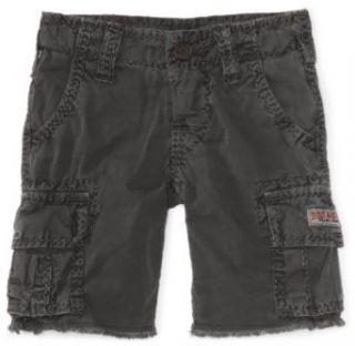 True Religion Boys 8 20 Samuel Cut Off Cargo Short, Charcoal, 10: Clothing