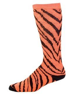 Pizzazz Performance Wear 8090AP  NOR  L 8090AP Animal Print Knee High Sock   Neon Orange Zebra   Large: Health & Personal Care