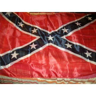 Confederate Rebel Flag 3ft x 5ft Printed Polyester : Patio, Lawn & Garden