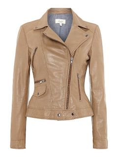 Linea Weekend Leather jacket Tan