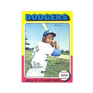 1975 Topps #186 Willie Crawford   NM MT at 's Sports Collectibles Store
