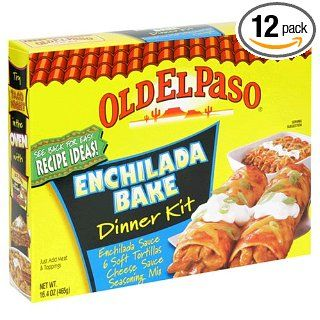 Old El Paso Dinner Kits, Enchilada Bake, 14.2 Ounce Boxes (Pack of 12) : Grocery & Gourmet Food