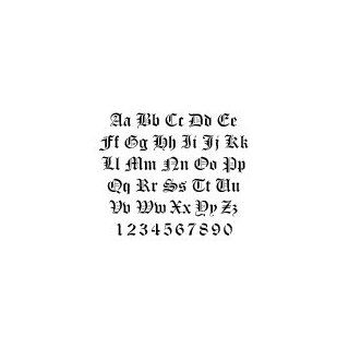 Old English Lettering Alphabet Stencils   2 inch   14 mil heavy duty Industrial & Scientific