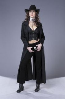 Sexy Gunslinger Costume Womens Theatre Costumes Western Wild West Sizes: Small: Clothing