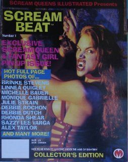 Scream Beat Magazine #1, 1995 By Scream Queens Illustrated Featuring Debbie Rochon, Brinke Stevens, Linnea Quigley, Michelle Bauer, Monique Gabrielle, Julie Strain, Debbie Dutch, Rhonda Shear, Sazzy Lee Varga, Alex Taylor, Melissa Silver, Kelli Smith, Jasa