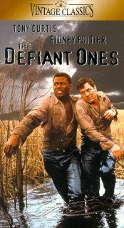 Defiant Ones [VHS]: Tony Curtis, Sidney Poitier, Theodore Bikel, Charles McGraw, Lon Chaney Jr., King Donovan, Claude Akins, Lawrence Dobkin, Whit Bissell, Carl 'Alfalfa' Switzer, Kevin Coughlin, Cara Williams, Sam Leavitt, Stanley Kramer, Frederic