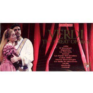 Giuseppe Verdi: The Great Operas [La Traviata (Caballe, Bergonzi, Milnes, Pretre); Il Trovatore (Price, Cossotto, Domingo, Milnes, Giaiotti, Mehta); Rigoletto (Popp, Takacs, Aragall, Weikl, Rootering, Gardell); Aida (Price, Bumbry, Domingo, Milnes, Raimond