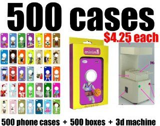 Whoelsale Lot of 500 Phone Cases to Personalized Gift Minime 3d Photo Face for Apple Iphone 4/4s Case   Gold iPack Package (1) phone cases: 500 cases. (2) retail boxes: 500 boxes. (3) 500 films (4) 3D machine. Business in a box! Magically transformed 3D pi