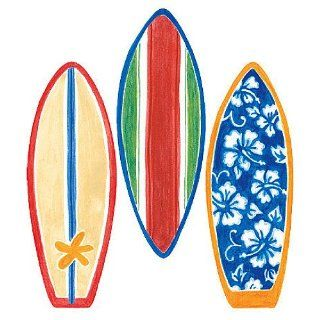 Wallies 12193 Surfboard Wallpaper Cutout   Wall Decor Stickers