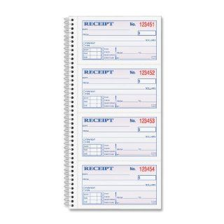 Adams Money and Rent Receipt Book, 2 Part Carbonless, 2.75 x 4.75 Inch Detached, Spiral Bound, 200 Sets per Book (SC1152) : Blank Receipt Forms : Office Products