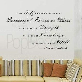PopDecors   The Difference between a Successful Person and Others Vince Lombardi  words quote phrase   inspirational quote wall decals quote decals wall stickers quotes inspirational quotes decals lyrics famous quotes wall decals nursery rhyme   Wall Decor