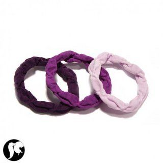 SG Paris Elastic 3 Pces/Set Purple Comb 'Made in Italy' Vi Fonc/Ame/Prun/Aube Hair Ties Scrunchie Fabrics Summer Teenager Miss Fashion Fashion Jewelry / Hair Accessories Z Others: Jewelry