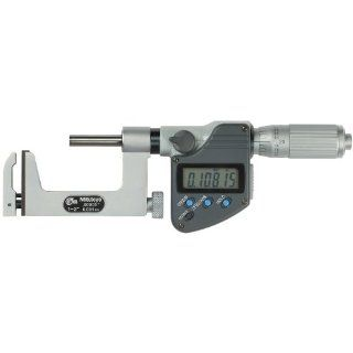 """Mitutoyo 317 351 Uni Mike LCD Outside Micrometer, Friction Thimble, 0 1""""/0 25.4mm Range, 0.00005""""/0.001mm Graduation, +/ 0.0002"""" Accuracy: Industrial & Scientific"""