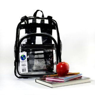 Heavy Duty Clear Backpack 3 Sizes Black or Pink Baby