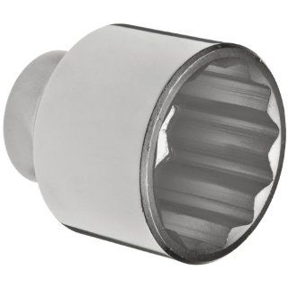 """Martin H1272 Forged Alloy Steel 2 1/4"""" Type III Opening 3/4"""" Square Drive Socket, 12 Points Standard, 3 3/16"""" Overall Length, Chrome Finish Industrial & Scientific"""