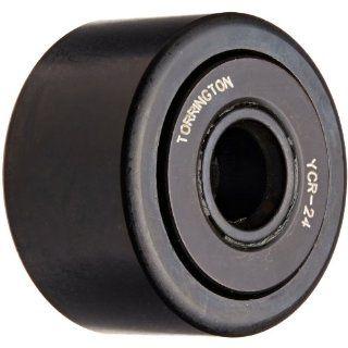 "Koyo YCR 24 Yoke Roller, Unsealed, Inch, Steel, 1 1/2"" Roller Diameter, 7/8"" Roller Width, 7/16"" Inner Diameter, 15/16"" Overall Width Cam Yoke Roller Bearings Industrial & Scientific"