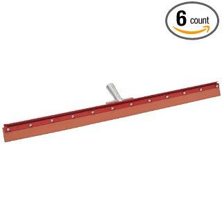"""Carlisle 4007700 Flo Pac Gum Rubber Straight Floor Squeegee with Heavy Duty Steel Frame, 36"""" Overall Width, Red (Case of 6) Industrial & Scientific"""