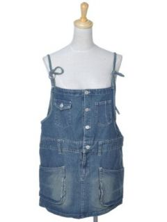 Anna Kaci S/M Fit Blue Vintage Inspired Easy to Wear Young Denim Overall Dress at  Women�s Clothing store: Jeans Dress Women