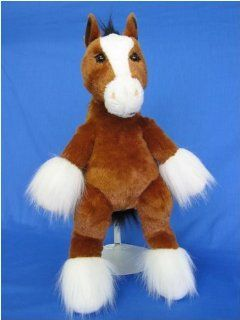 "King Clydesdale Horse 16.5""  Make Your Own Stuffed Animal Kit w/ Backpack: Toys & Games"