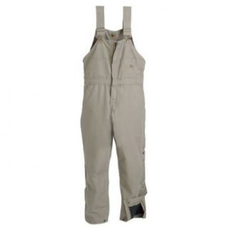 Ladies Insulated Bib Overall; Color Burnt Orange, Size Large Short