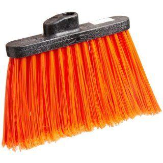 "Carlisle 3686724 Duo Sweep Medium Duty Flagged Angle Broom Head, Polypropylene Bristle, 8"" Overall Length x 12"" Width, Orange Industrial & Scientific"