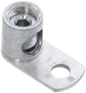 "Panduit ML4T CY Barrel Post Lug, One Hole, Straight Tongue, Tin Plated, #14 SOL   #4 STR Copper Conductor Size Range, 1/4"" Stud Hole Size, 0.09"" Tongue Thickness, 0.54"" Width, 0.55"" Height, 1.11"" Overall Length Electronic Componen"