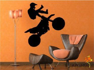 MOTORCROSS/DIRT BIKE VINYL WALL ART STICKERS DECALS GRAPHICS ART   Decorative Wall Appliques